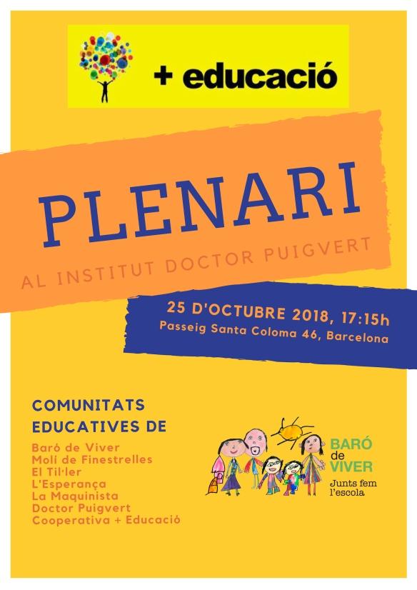 Plenari + educacio